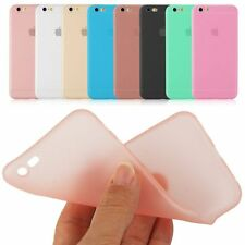 Ultra Thin Slim Jelly Gel TPU Silicone Soft Matte Back Cover Case for iPhone