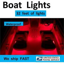 RED ___ LED Boat Lights for BOTH SIDES of the boat ___ complete DIY kit --- RED