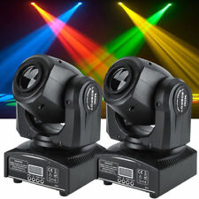 2PCS 30W RGBW LED Moving Head Stage Light DMX512 Disco DJ Party Beam Lighting SR