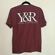 Young And Reckless Men's Short Sleeve T-shirt Maroon - Size Small