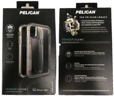 New Original PELICAN Voyager Clear/Gray Case With Clip Holster for iPhone X 10