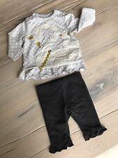Baby Set Mädchen ~ Shirt m. Hose ~ Schwan ~ Gr. 56 ~ TOP
