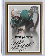 PAUL WARFIELD 2000 FLEER GREATS OF THE GAME AUTOGRAPH AUTO -DOLPHINS!!