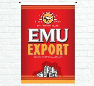 FLAG - Flag Poster Hanging Sign Aussie Man Cave Shed Bar Garage Beer Banner EMU