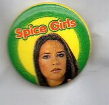 POSH SPICE / VICTORIA BECKHAM BUTTON BADGE SPICE GIRLS 90s GIRL POP BAND 25MM