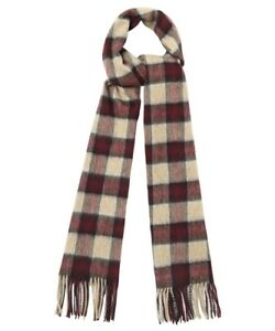 BARBOUR Gowen Check Lambswool/Cashmere Scarf