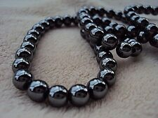 """Hematite Round Beads 6mm 16"""" Strand.  Approximately 75 Beads.  Non Magnetic."""