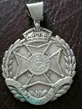 More details for sterling silver pocket watch fob medal field firing shooting 1909 walker & hall