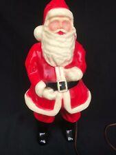 VINTAGE SANTA CLAUS CHRISTMAS DECORATION - HARD PLASTIC - LIGHT UP