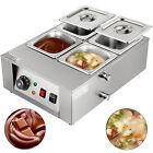 Commercial Electric Chocolate Tempering Machine 8kg Melter Maker W/4 Melting Pot