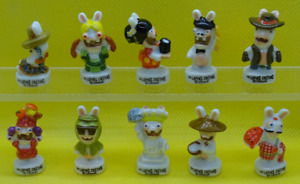 Fève  - Série complète de 10 fèves  - Les lapins crétins - Lapin crétin