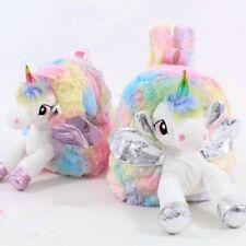 Mochila de unicornio para niñas, niños, bolsa con cremallera con unicornio...