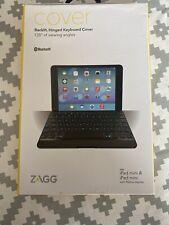ZAGG Backlit Hinged Keyboard Folio, White, Bluetooth for iPad Mini (Retina Disp)