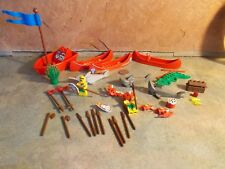 LEGO ISLAND WARRIORS CANOES BOAT WEAPONS SHARKS ALLIGATOR + MORE #1