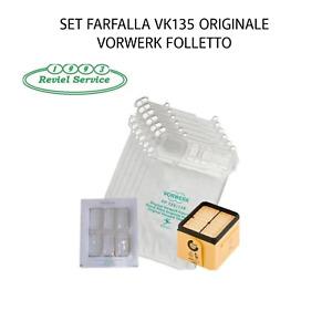 SET FARFALLA VK135/136 FOLLETTO VORWERK ORIGINALE NUOVO CONFEZIONATO REVIEL