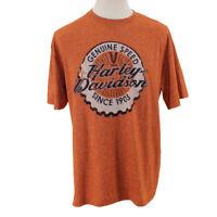 HARLEY DAVIDSON Men's T-Shirt Size XL XLarge Orange Short Sleeve South Carolina