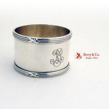 Edwardian Napkin Ring 835 Standard Silver Germany 1917-1934