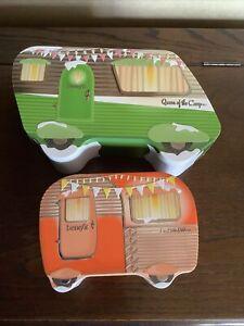 Benefit Pair Of Benefit Campervan Shaped Storage Tins