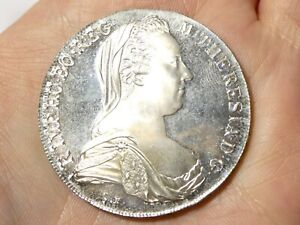 1780 Austria Maria Theresa 1 Thaler Silver Coin Bullion Restrike 28g #92