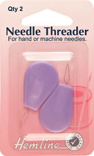 Hemline Needle Threader - For Hand and Sewing Machine Needles