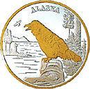 Alaska Mint Raven Gold & Silver Medallion Proof
