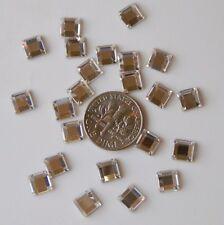 6mm 36 pieces SQUARE Crystal Clear Swarovski Flatback 2400 Rhinestones