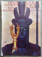 La Rivista Illustrata Maggio 1924 Tirso Bergamo Duce Sicilia Pirandello Zandonai
