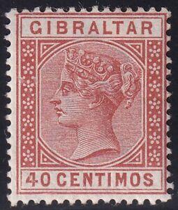 UK STAMP Gibraltar  1889 Queen Victoria, 1819-1901 40c MH/OG