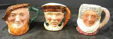 3 Antique Lancaster Toby Character Jugs - Scottie * Highway Man * Queen