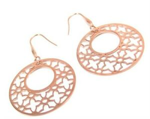 Rose Gold PVD Earrings Hypoallergenic Surgical Steel Dangle French Ear Wires