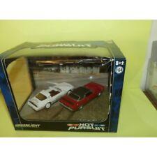 Pontiac Firebird 1979 et Dodge Challenger 1971 Catoosa Sheriff Diorama Greenligh