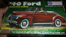 LINDBERG 1/32 1940 FORD CONVERTIBLE SSP Model Car Mountain Complete