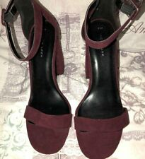 New look chunky heels Burgundy colour Size 5 USED--VGC