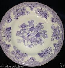 """GUSTAFSBERG GUSTAVSBERG DINNER PLATE 9 1/2"""" PURPLE & WHITE FLORAL BIRD & DESIGN"""