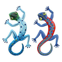 RAINBOW GECKOS ~ ROYCE McCLURE ART POSTER ~ SLIM 12x36 Animal Gecko
