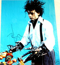 JOHNNY DEPP HAND SIGNED AUTOGRAPHED EDWARD SCISSORHANDS 11X14 PHOTO! W/PROOF+COA