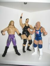 Edge, Kurt Angle & The BIg Show Wrestling Figures WCW WWE WWF Jakks 1999+