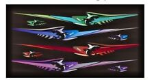 Pair Shark Blue Shades Turquoise boat graphics stickers fishing decals Set 150cm