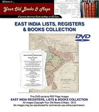 EAST INDIA ARMY LIST REGISTERS BOOKS DVD COLLECTION