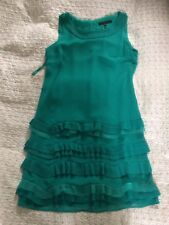 COAST Green Layered Ruffles Party Dress-size 8. Worn Once Immaculate Condition
