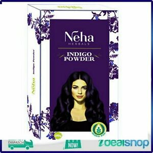 Neha Herbals Indigo Powder, Natural Dye for Shiny Hair
