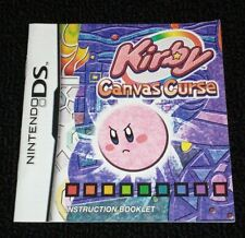 Kirby Canvas Curse ORIGINAL Nintendo DS 2005 AUTHENTIC Manual/Booklet ONLY LN