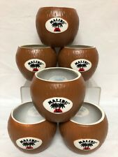 6 Malibu Plastic Coconut Drinking Cups Or Drink Koozies