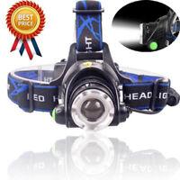 Fishing Tactical 30000LM T6 LED Headlamp 18650 Headlight Head Lamp Camp Lights k