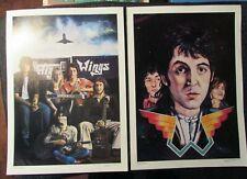 1979 PAUL McCARTNEY & WINGS 11.75x16.25 Print #42 & 54 by Steven Chapple FN+/FVF