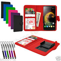 Clip On Leather Flip Wallet Book Case Cover For Cubot Note S