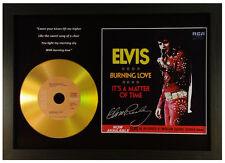 ELVIS PRESLEY 'BURNING LOVE' SIGNED GOLD PRESENTATION DISC