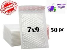 50pcs 7x9 White Color Self Seal Poly Padded Bubble Mailers Envelopes