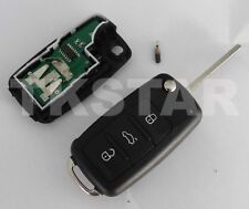 433Mhz Auto Schlüssel 3-Tasten Fernbedienung für VW + Transponder 5K0837202 AD