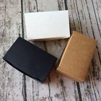 40x Kraft white Black Paper Gift Boxes birthday Wedding Favour Bomboniere Boxes